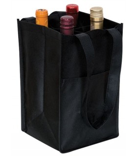 Eco Wine Bag x 4 - TELA REFORZADA