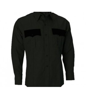 Camisa Negra Uniforme Guardia